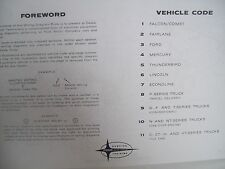 1963 Ford Fairlane Mercury Meteor Wiring Diagram covers all options! 11x17