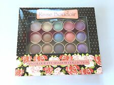 NEW 15 COLOUR ROSE BOUDOIR EYE SHADOW COLLECTION MAKEUP SATIN EFFECT SHADES UK