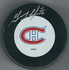 AUTOGRAPHED  Guy LaPointe Montreal Canadiens Hockey Puck - w / COA