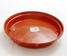 2 x 25CM 10INCH 10'' STRONG PLASTIC POT SAUCER ROUND BASE WATER DRIP TRAY DISH