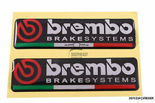 Domed reflective BREMBO brake systems sticker decal for Motorbike - Race motor