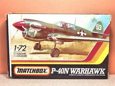 1/72 MATCHBOX P-40N WARHAWK MODEL KIT # PK-31
