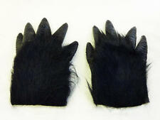 Black Hairy Gorilla Hands Monkey Halloween Fancy Dress King Kong Accessory