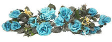 TEAL  AQUA BLUE ~ SWAG ~ Turquoise Silk Wedding Flowers Arch Gazebo Centerpiece