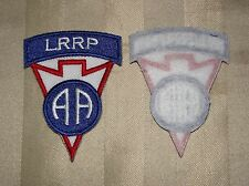 Lot Sale Full Color 82nd ABN LRRP School Patch with Army RECONDO RECON