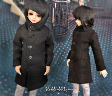 1/4 BJD MSD boy doll outfit black long coat jacket super dollfie luts minifee