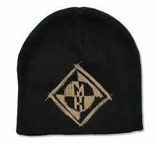 MACHINE HEAD - MH LOGO BLACK KNIT COTTON BEANIE HAT NEW OFFICIAL ADULT OSFM
