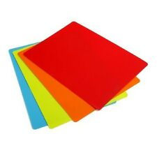 "NEW* CHOP CHOP CUTTING MAT BOARD SET OF 4 MATS FLEXIBLE - 11.5""x15"" (USA)"