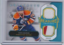 13-14 2013-14 UD ARTIFACTS SAM GAGNER TREASURED SWATCHES DUAL JERSEY TS-GA OILER