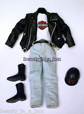 Harley Davidson Motorcycle Fashion for Ken Doll Barbie Denim Jeans BIKER