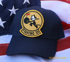 VF-31 TOMCATTERS FELIX CAT HAT CAP SAILOR CHIEF USS WOWNH USN NS NAS NAF US NAVY