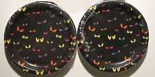 2-SET SPOOKY EYES PLATES SET Luncheon Halloween Cocktail Party Snack Ghoul NEW