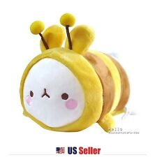 "Marshmallow Bunny Lovely Molang 13"" Cute Stuffed Plush Doll Cushion : Honey Bee"