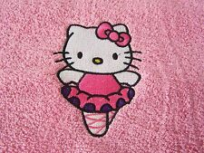 """EMBROIDERED HELLO KITTY SWIMMING/BATH TOWEL"" BALLERINA"