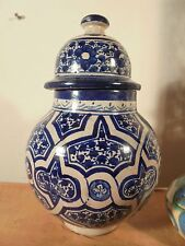 Céramique XIXème Superbe Pot couvert ancien FEZ DLG IZNIK à Identifier.