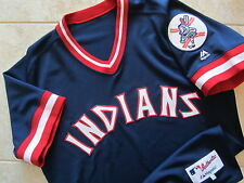 SUPER RARE! Cleveland Indians Majestic Turn Back The Clock Throwback Jersey 44