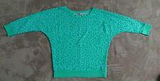 Urban Surface Shirt Longsleeve langer Arm Ausbrenner Leopard Grün Gr M Neuwertig