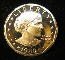 1980  - S  Proof Susan  B. Anthony Dollar Clad  Gem Cam.  Nice Coin  Free S/H