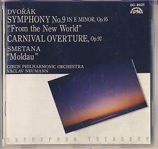 """Dvorak, Smetana - Neumann, Czech PO: Symphony 9, """"Moldau"""" (Supraphon) Like New"""