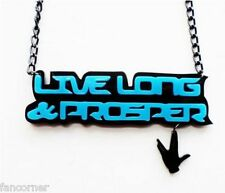 Pendentif Star trek hommage spock live long and prosper necklace