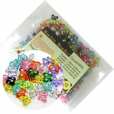 280 Mixed Acrylic Butterfly with Rhinestone Spacer Beads 11x9mm (1mm Hole)