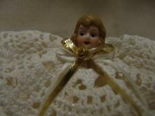 VINTAGE CROCHETED CHRISTMAS ANGEL TREE TOPPER OR ANY DISPLAY FREE SHIPPING