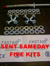 5 X XBOX 360 XCLAMP RROD KIT REPAIR X CLAMP ALCOHOL SILVER PASTE NYLON WASHERS