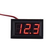 Mini LED Panel DC 5-30V Voltmeter 3-Digital Voltage Display Meter 2-wire 3 color
