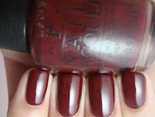 New OPI ~~GOT THE BLUES FOR RED~~ Dark Rich Burgundy Red Nail Polish Lacquer W52