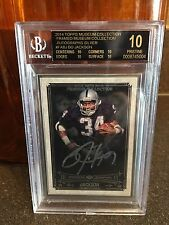 2014 Topps Museum Collection Bo Jackson Silver Auto 10 Pristine