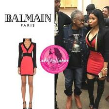 Balmain Paneled Bodycon Dress UK10 as on nicki minaj