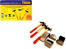 7PC CAR AUTO BODY PANEL REPAIR TOOL KIT WITH WOODEN HANDLES BEATING HAMMERS