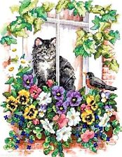 "Dimensions Stamped Cross Stitch kit 11"" x 14"" ~ SPRINGTIME VIEW #13133 Sale"
