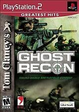 PS II Playstation 2 Tom Clancy's Ghost Recon Greatest Hits Lot V4-25