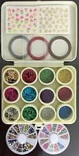 Nail Art Kit #2. Complete set for Birthday gift Girls Women. Glitters. Tapes.