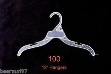 """100 Retail Clothes Hangers 13"""" [33cm] Plastic w/ Strap Slots Children Kids"""