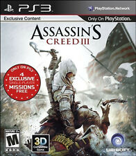 Assassin's Creed III Gamestop Edition PS3 (Sony PlayStation 3, 2012) NEW