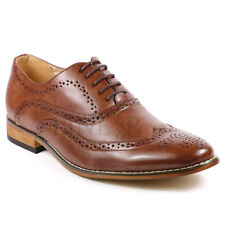 Men's Wing Tip Perforated Lace Up Fashion Oxford Dress Shoes