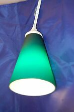 Opaque Teal Glass Shade  Hanging Lamp-New!