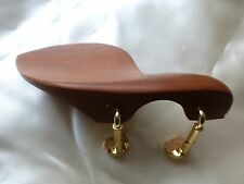 BROWN VIOLIN CHIN REST WITH TWO PIECE STYLE CORKED CLAMP, NEW, 4/4, UK SELLER!