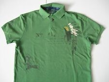 POLO RALPH LAUREN Men's Custom Fit Indian Headdress Print Mesh Polo L
