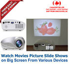 1080p Portable Mini Multimedia LED Projector Home Cinema AV USB SD HDMI TV VGA