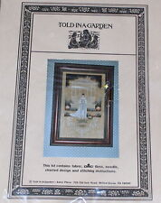 "Told in a Garden ""Victorian Bride"" Personalized Wedding Day Cross Stitch Kit NIP"