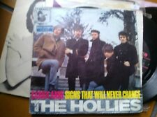"7"" THE HOLLIES CARRIE ANNE SIGNS THAT WILL NEVER CHANGE GERMANY VG+/EX++"
