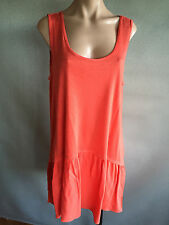 BNWT Womens Sz 18 Autograph Brand Tangerine Sleeveless Stretch Tunic Top RRP $50