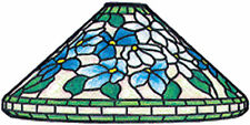 """Worden 16"""" Clematis T Stained Glass Lamp Pattern C166"""
