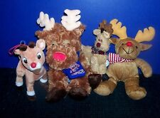 4 Plush Reindeer - Christmas Toys - Rudolph - Red Nose - Pepsi 2013- Disney