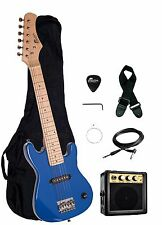 "Raptor EP-3 Kid's 30"" BLUE Electric Guitar Pack w/ 3W Amp, Gig Bag, Strap"