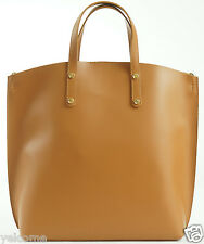 GENUINE ITALIAN HANDMADE LEATHER TOTE SHOPPER HANDBAG BUCKET SHOULDER BAG HONEY