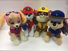 Paw Patrol Plush Stuffed Animal Toy Set: Chase, Rubble, Marshall & Skye - 10""